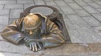 Bekannte Skulptur in Bratislava